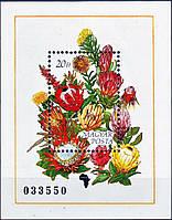 Венгрия 1990 цветы Африки - блок - MNH XF