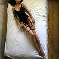 Гартеры женские, материал кожзам, ремни на ноги, портупеи для ног. Розница, опт в Украине.