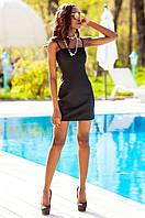 Летнее черное короткое платье Дона Jadone Fashion 42-48 размеры