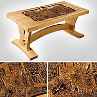Дизайнерский резной стол из дерева