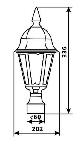 Садово-парковый светильник DeLux PALACE A03 черное золото, фото 2