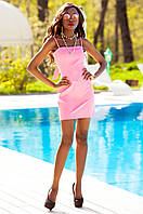 Летнее короткое платье Дона фуксия Jadone Fashion 42-48 размеры
