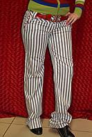 Прямые женские брюки в полоску