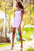 Летнее короткое персиковое платье Дона Jadone Fashion 42-48 размеры