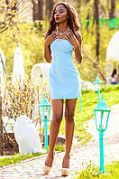 Летнее короткое голубое платье Дона Jadone Fashion 42-48 размеры