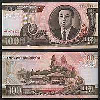 Korea North Северная Корея - 100 Won 1992 UNC Pick 43a