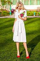 Женское белое платье Флори Jadone Fashion 42-48 размеры