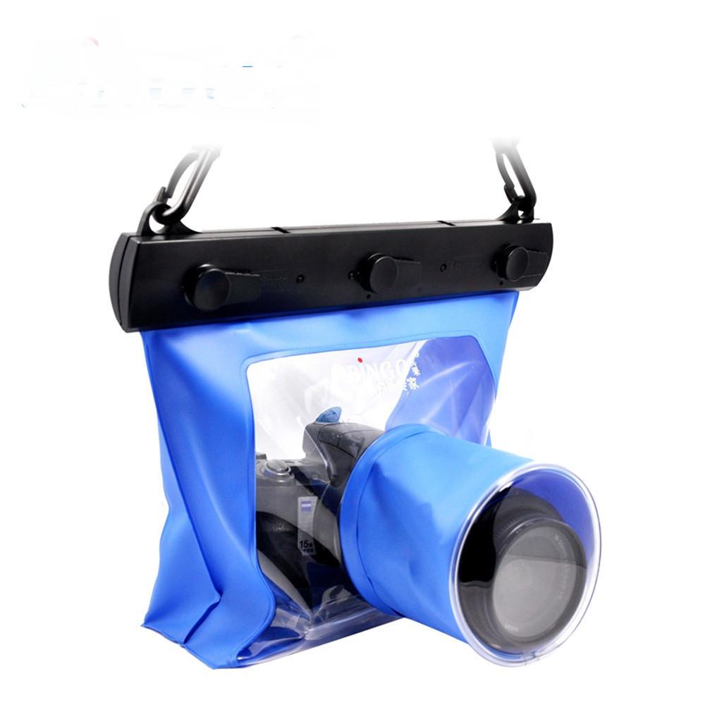 Водонепроницаемый аквабокс для зеркальных фотоаппаратов Bingo синий