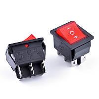 Переключатель (красный с подсветкой) KCD 7 (АСКО)