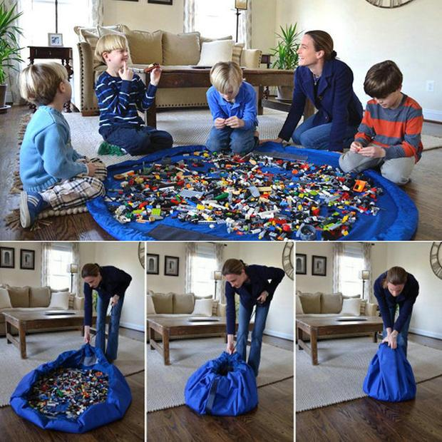 Удобная сумка для детских игрушек, на которой можно играть!