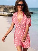 Уценка! Пляжное платье в горох  СС7090