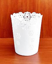 Кашпо пластиковое для орхидей (537) белое, 17х14 см