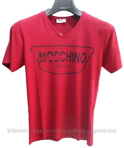 Футболка мужская текст moschino юниор (лето)