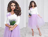 Костюм женский кофта и юбка в расцветках 16261, фото 1
