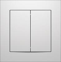 Выключатель двухклавишный Marshel IDEAL белый VS10-300