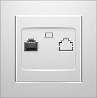 Розетка компьютерная Marshel IDEAL белая RC-485