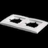 Рамка двухместная Marshel IDEAL белая FI-2
