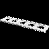 Рамка пятиместная Marshel IDEAL белая FI-5