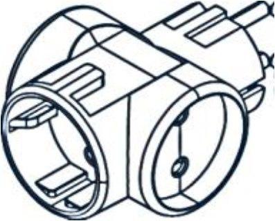 Розгалужувач побутової Marshel LIDER білий РВ16-312