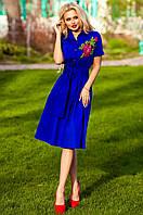 Женское платье Флори электрик Jadone Fashion 42-48 размеры