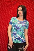 Цветная женская футболка с камнями Сваровски