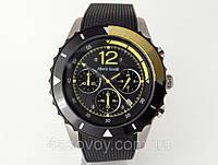 Часы мужские Alberto Kavalli в стиле Ferrari, черный с желтым, встроен секундомер, фото 1