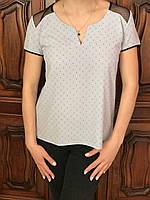 """Летняя женская блузка """"Сетка"""" из натуральной ткани, S,M,L р-ры, 235/205 (цена за 1 шт. + 30 гр.)"""