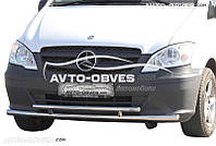 Двойная защита переднего бампера для Mercedes Виано II \ Вито II 2010—2015