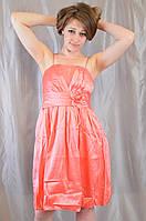 Нарядное яркое молодежное выпускное платье из тафты