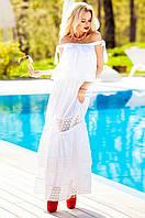 Женское белое платье Шарлин Jadone Fashion 42-50 размеры