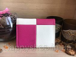 Яркий женский кошелек Two colors (Бело-розовый), фото 2
