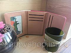 Яркий женский кошелек Two colors (Бело-розовый), фото 3