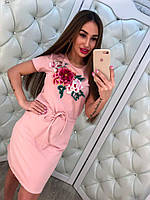 Женское красивое повседневое платье с вышивкой и карманами (3 цвета)