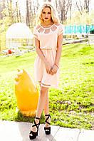 Персиковое платье-туника Херес Jadone Fashion 42-50 размеры