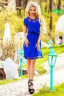 Синее платье-туника Херес Jadone Fashion 42-50 размеры