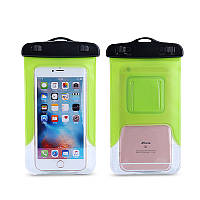 Водонепроницаемый чехол для смартфонов до 6 '' зеленый, фото 1