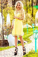 Желтое платье-туника Херес Jadone Fashion 42-50 размеры