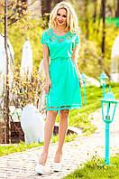 Бирюзовое платье-туника Херес Jadone Fashion 42-50 размеры