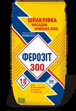 Шпатлевка фасадная Ферозит 300, белая, 18кг