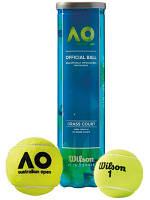 Теннисные мячи Wilson Australian Open, 4 мяча NEW