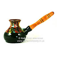 Турка керамическая маленькая ручная роспись Фантазия 250мл 9339