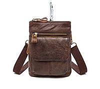 Кожаная мини-сумочка на плечо Marrant | коричневая