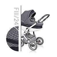 Детская коляска универсальная 3 в 1 Verdi Faster Style 24, черный/белый