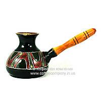 Турка керамическая средняя ручная роспись Узор 9340