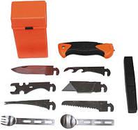 """Боевой набор для выживания MFH """"Special"""", 27 предметов, оранжевый бокс 27112"""