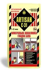 Шпатлевка минеральная белая С-31, Артисан, 25кг