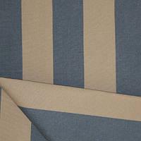 Ткань полоса беж/синий