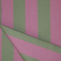 Ткань полоса зелёная/малиновая