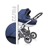 Детская коляска универсальная 3 в 1 Verdi Faster Style 22, синий/черный