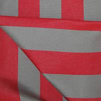 Ткань полоса тёмный беж/красный